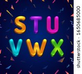 candy colorful kid font.... | Shutterstock .eps vector #1650685000