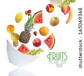 fruits | Shutterstock . vector #165069368