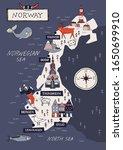 Cartoon Norway Vector Map....