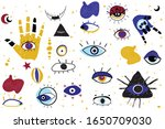 occult mystical emblem. evil... | Shutterstock .eps vector #1650709030