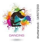 Dancing Woman. Colorful Dancing ...