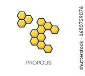 propolis rgb color icon. honey...   Shutterstock .eps vector #1650729076