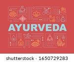 ayurveda word concepts banner....