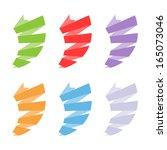 set of colorful vortex shaped...