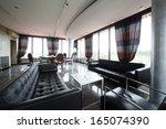 new and clean luxury restaurant ... | Shutterstock . vector #165074390
