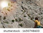 close up of rock climber girl... | Shutterstock . vector #1650748603