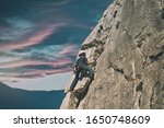 climber in spanish mountains... | Shutterstock . vector #1650748609