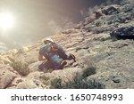 rock climber in spanish... | Shutterstock . vector #1650748993