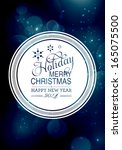 vector merry christmas and... | Shutterstock .eps vector #165075500