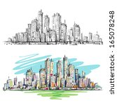 city landscape | Shutterstock . vector #165078248
