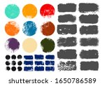 set of grunge post stamps ... | Shutterstock .eps vector #1650786589