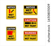 wet paint safety sign  caution...   Shutterstock .eps vector #1650805009