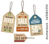 vintage retail swing tags | Shutterstock .eps vector #165081554
