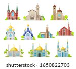 Religion Building Vector Icons...