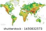 physical world map vector... | Shutterstock .eps vector #1650832573