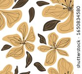 vector seamless pattern with... | Shutterstock .eps vector #1650834580