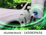 Ev Car Or Electric Vehicle At...