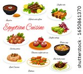 egyptian meat and vegetable... | Shutterstock .eps vector #1650861370