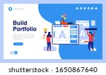 web page design with business... | Shutterstock .eps vector #1650867640