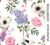 beautiful seamless floral... | Shutterstock . vector #1650874336