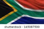 flag of south africa waving in... | Shutterstock . vector #165087500