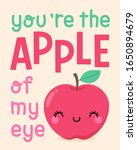 cute apple cartoon illustration ... | Shutterstock .eps vector #1650894679