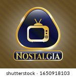 gold badge or emblem with old...   Shutterstock .eps vector #1650918103
