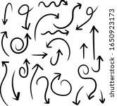 hand drawn arrows vector set... | Shutterstock .eps vector #1650923173