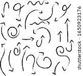 hand drawn arrows vector set...   Shutterstock .eps vector #1650923176