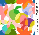 colorful pareo print. seamless... | Shutterstock .eps vector #1650929719