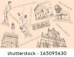 florence view illustration | Shutterstock . vector #165095630
