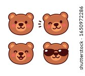 cute cartoon bear face set ... | Shutterstock .eps vector #1650972286