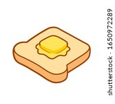 toast with butter cartoon... | Shutterstock .eps vector #1650972289