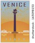 Venice Vintage Poster In Orang...