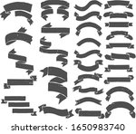 banners and ribbons vector set... | Shutterstock .eps vector #1650983740