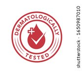 dermatologically tested icon... | Shutterstock .eps vector #1650987010