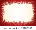 red snowflakes christmas frame...