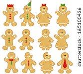 Gingerbread Man Clip Art Set....