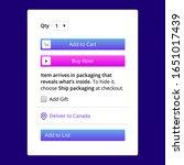 add cart user interface design...