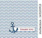 thank you greeting card with... | Shutterstock .eps vector #165103913