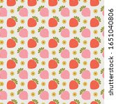 Retro Strawberry Seamless...