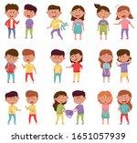bullying children characters...   Shutterstock .eps vector #1651057939