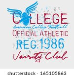 college sports american...   Shutterstock .eps vector #165105863