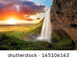 Waterfall  Iceland  ...