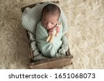 newborn baby boy  sleeping... | Shutterstock . vector #1651068073