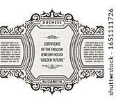 vintage frame and label....   Shutterstock .eps vector #1651111726