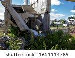 Ruins Of A House Where Green...