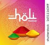 happy holi greeting banner... | Shutterstock .eps vector #1651116349