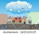 internet of things  iot  for... | Shutterstock .eps vector #1651124119
