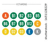 vitamins. set of signs or icons ...